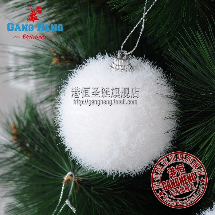 Factory whole sale Christmas tree decoration 6cm white high quality