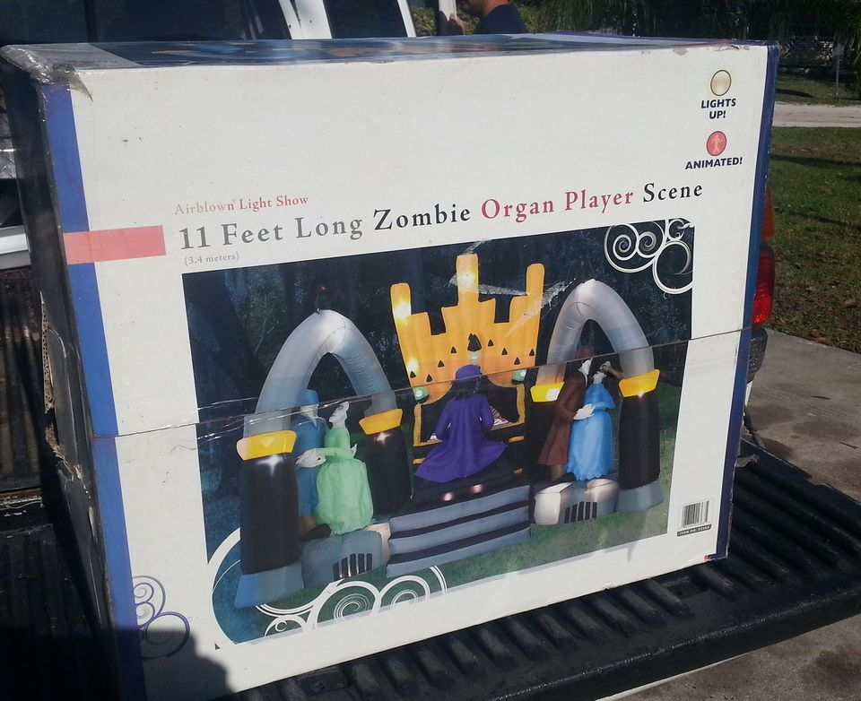 gemmy halloween airblown inflatable animated dancing zombies organ player s - Www Gemmy Com Halloween