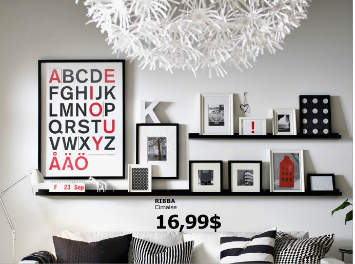 cimaises pour cadre photo chez ikea with cimaise tableau ikea. Black Bedroom Furniture Sets. Home Design Ideas