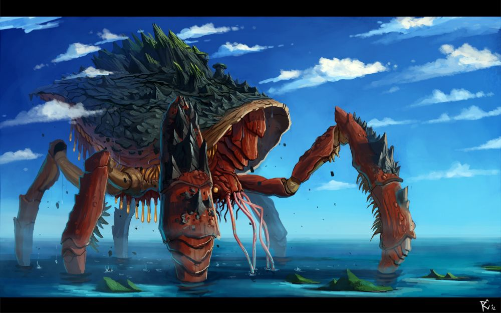 Giant sea monsters art - photo#52