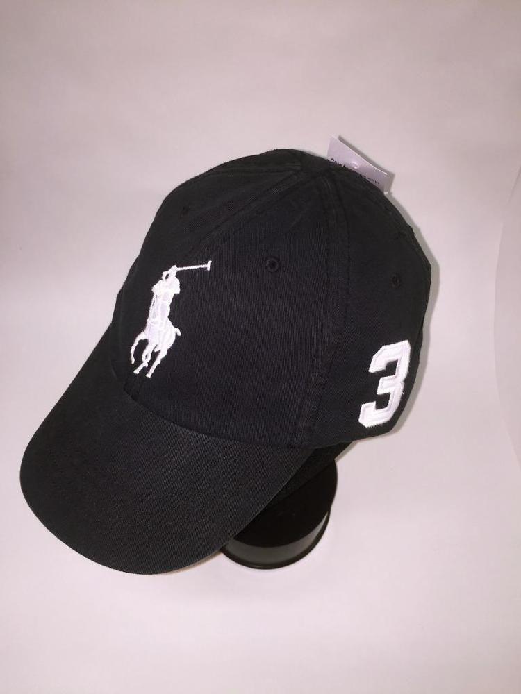 Polo Ralph Lauren BLACKw-WHITE Big Pony Ball Cap~Hat~POLO GOLF CAP~1  SIZE~NEW  PoloRalphLauren  BASEBALLGOLFCAP fce02ccdaf4