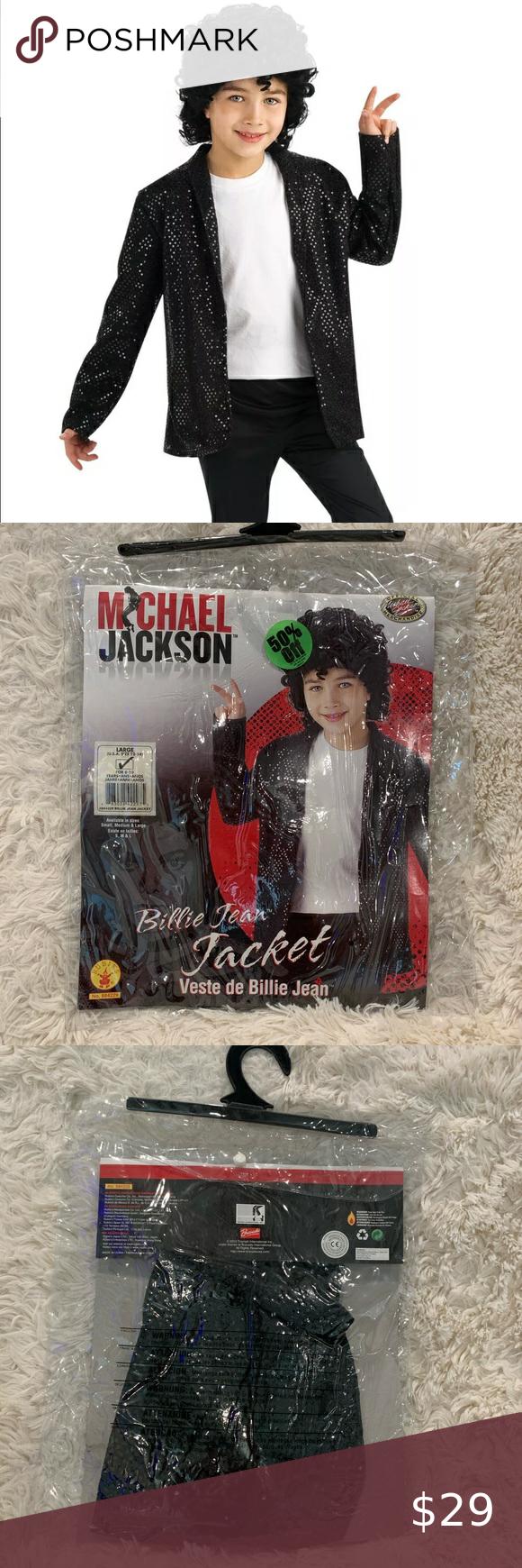 Michael Jackson Billie Jean Jacket Child Costume Kids Jacket Kids Costumes Jean Jacket [ 1740 x 580 Pixel ]