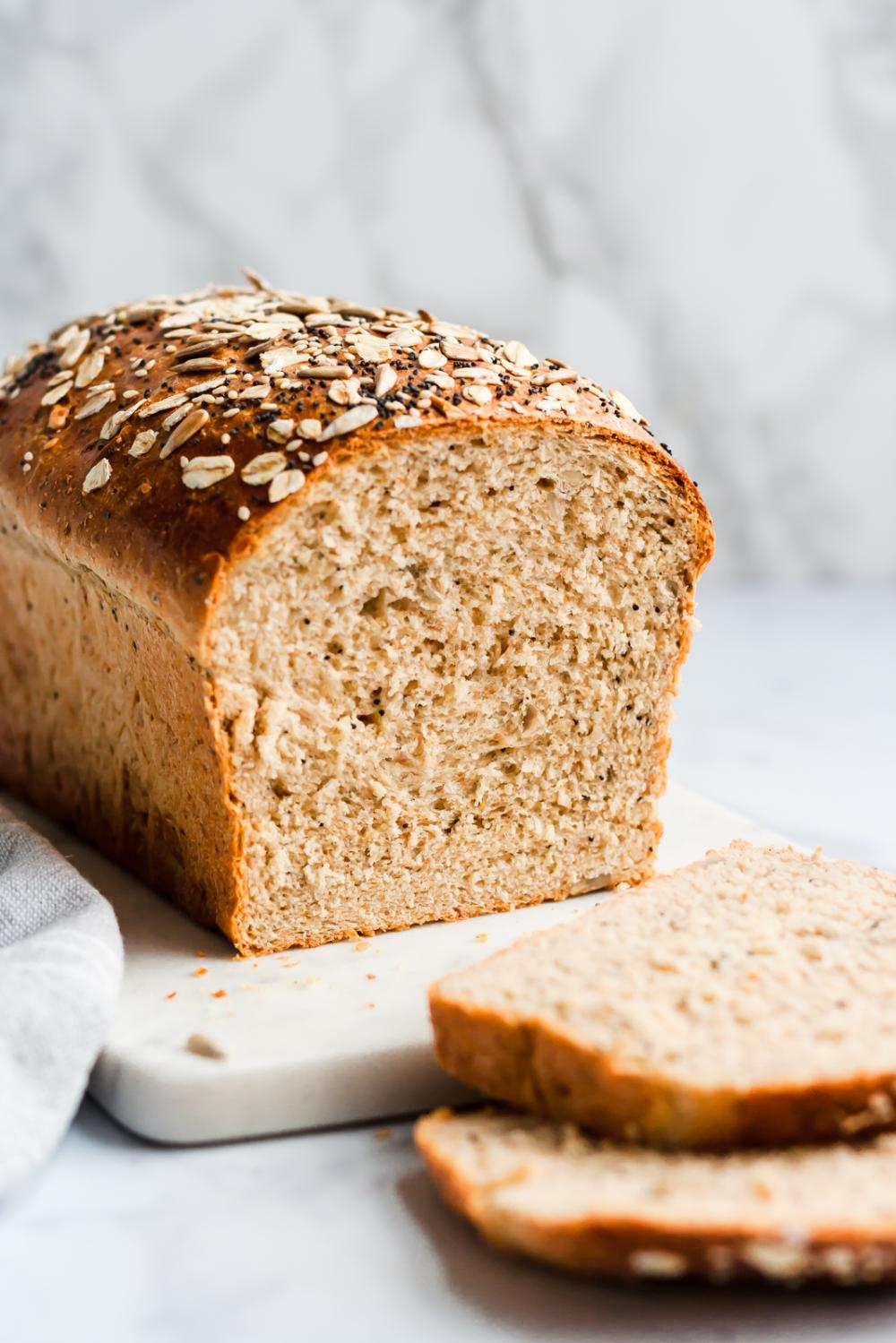 Best Healthy Soft Seedy Sandwich Bread Ambitious Kitchen Recipe Healthy Sandwich Bread Recipe Homemade Sandwich Sandwich Bread Recipes