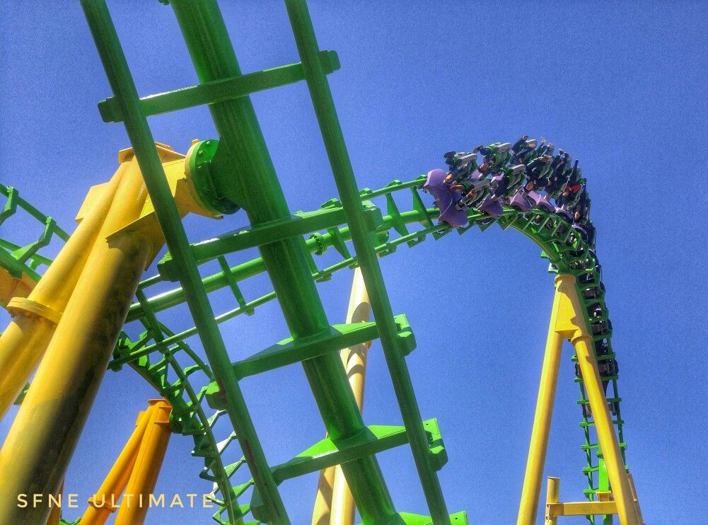 Riddler Revenge At Six Flags New England With Images Roller