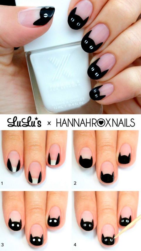 Can The Stunning Nail Tutorials Of Pinterest Be Done By Us Normal People Diy Claw Nails Cat Nail Art Scary Nails