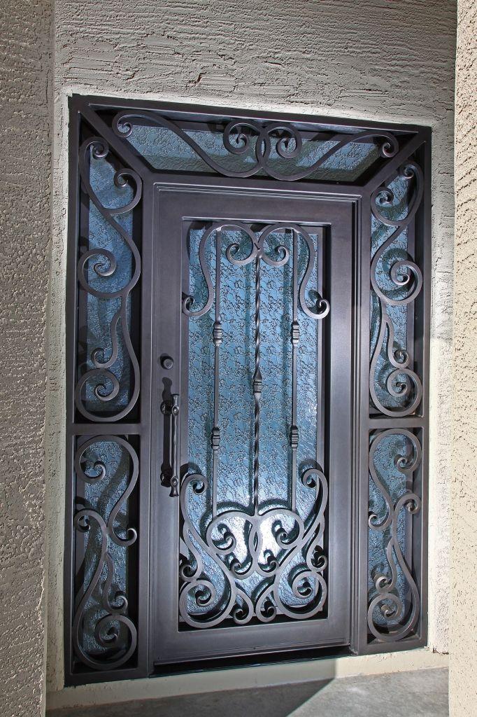 Verona Iron Entry Doors Firstimpression Iron Entry Doors Wrought Iron Doors Wrought Iron Gates