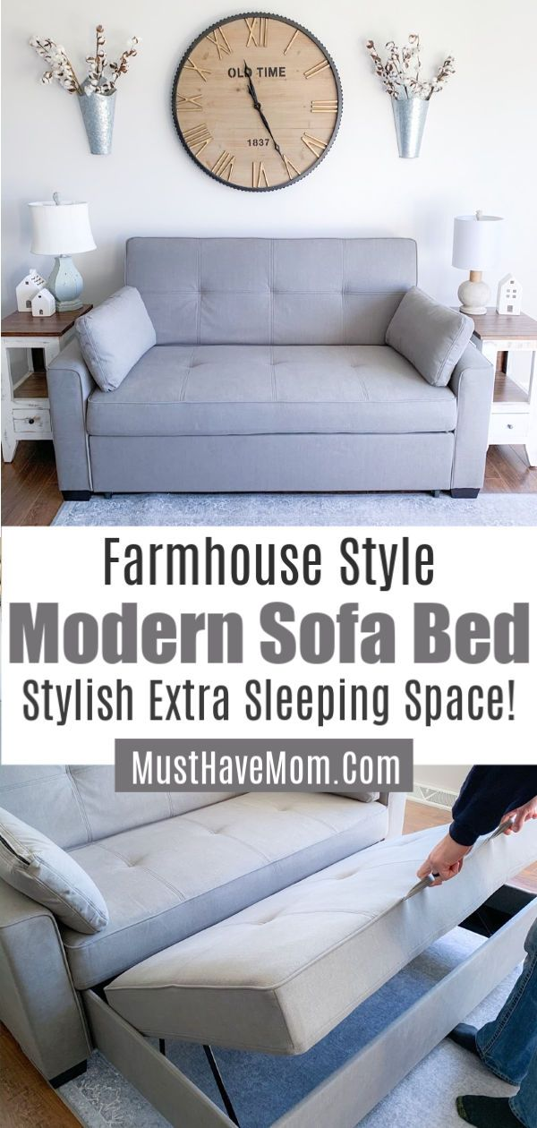 Modern Sofa Bed Works Great As Farmhouse Sofa Queen Sofa Sleeper Grey Sofa For Extra Guest Sofa Bed For Small Spaces Sofa Bed Design Small Space Sleeper Sofa