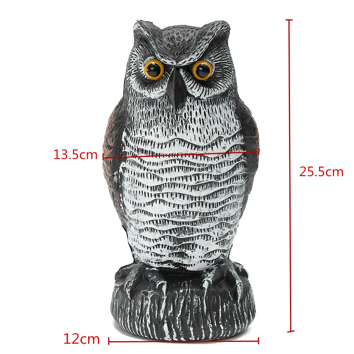 Rotating Head Fake Owl Scarecrow Hunting Decoy Bird Scare