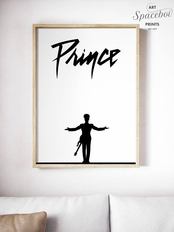 Prince Prince Poster Prince Art Purple Rain Prince Print Man