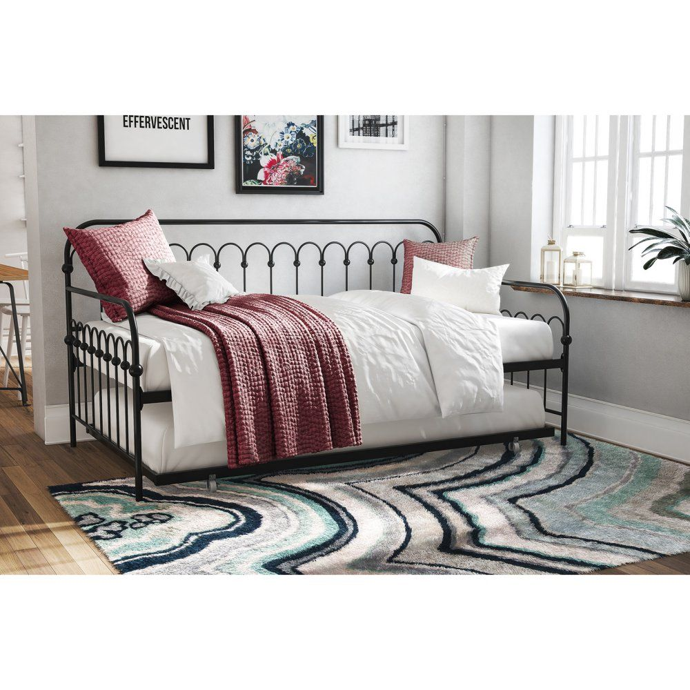 Novogratz Bright Pop Metal Daybed with Trundle Daybed