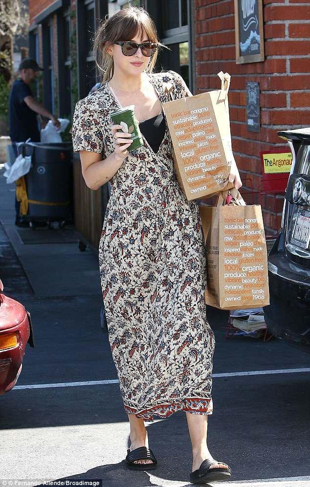 Dakota Johnson is summer chic as she showcases her