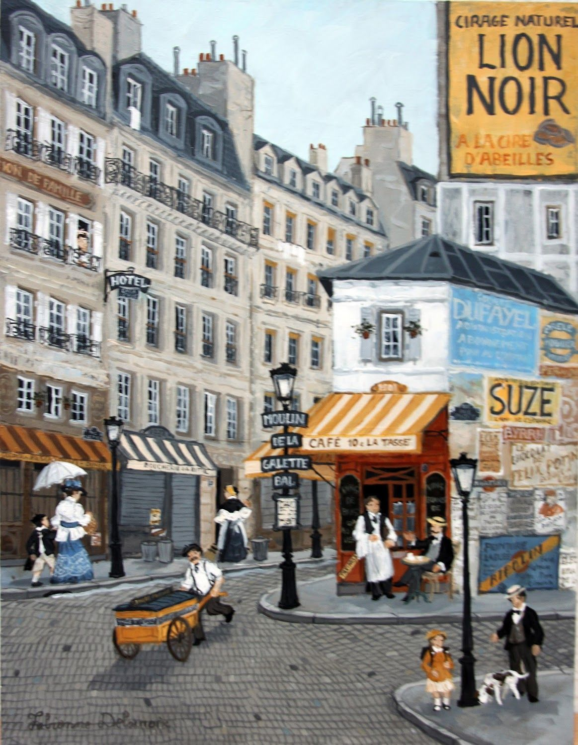 Rue Lepic Streetscape design, Photo, Street view