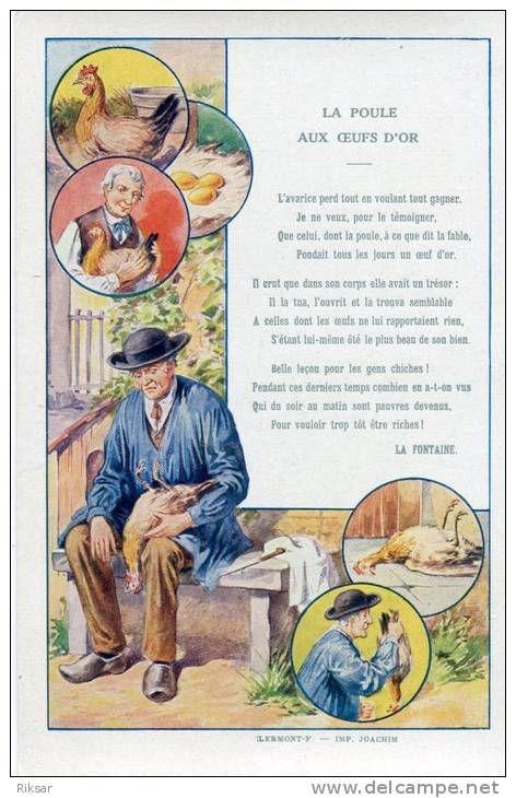 La Poule Aux Oeufs Dor Poesie Enfant Fable Et Fables Desope