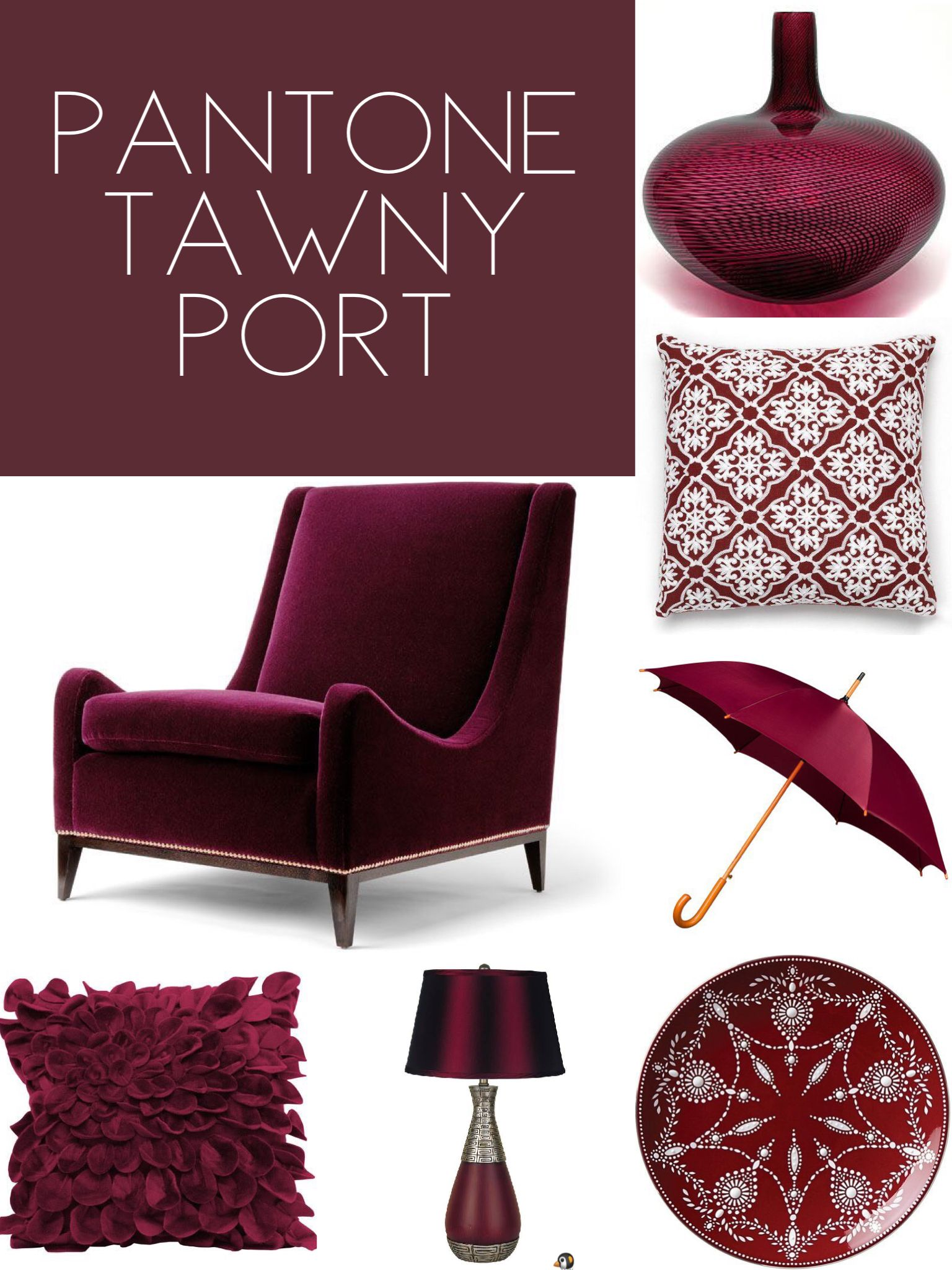 Pantone Tawny Port Home Decor Pantone Color Pallets