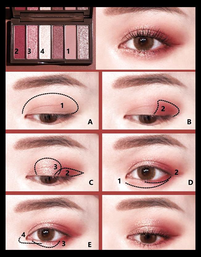 simple korean makeup eye