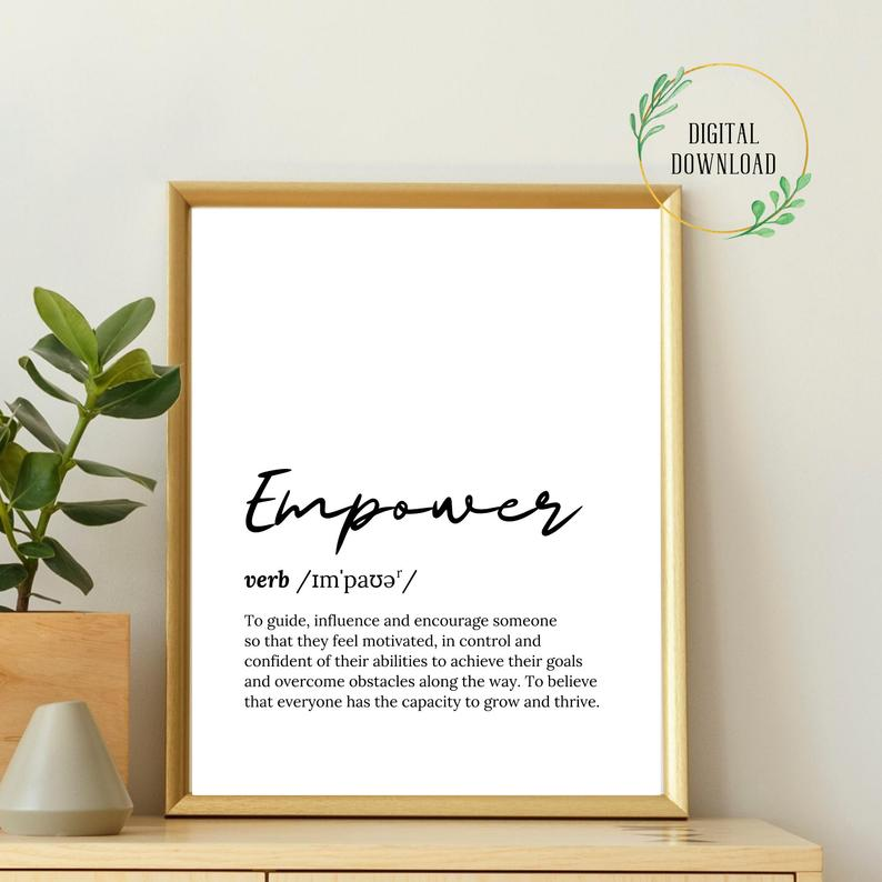Empowering Print Social Work Print Social Worker Poster Etsy Social Worker Office Decor Counseling Office Decor Social Work Quotes