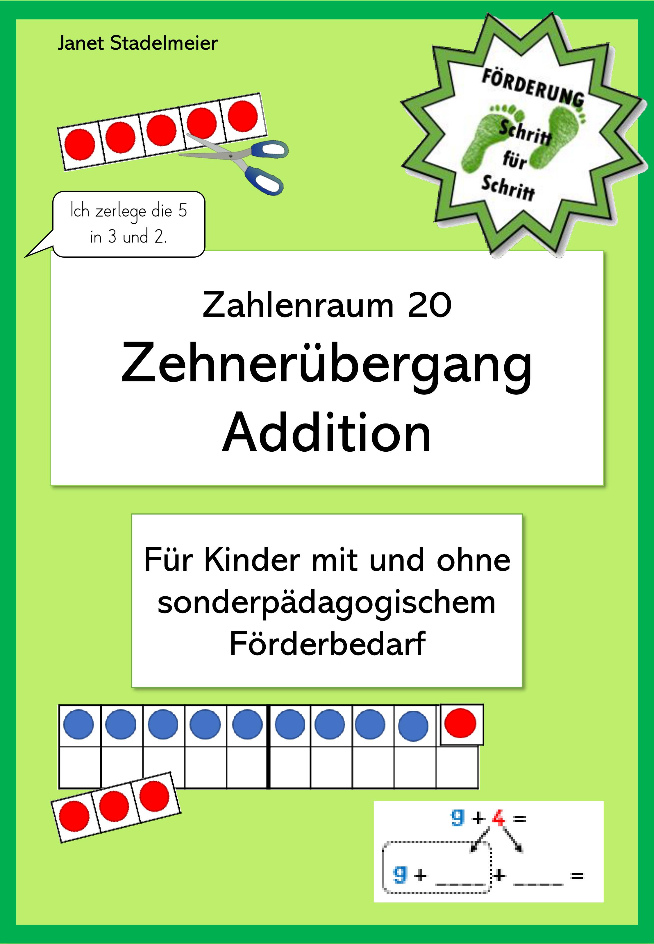 Einfuhrung Des Zehnerubergangs Addition Zr20 Unterrichtsmaterial Im Fach Mathematik Matheunterricht Mathe Unterrichten Mathematik Lernen