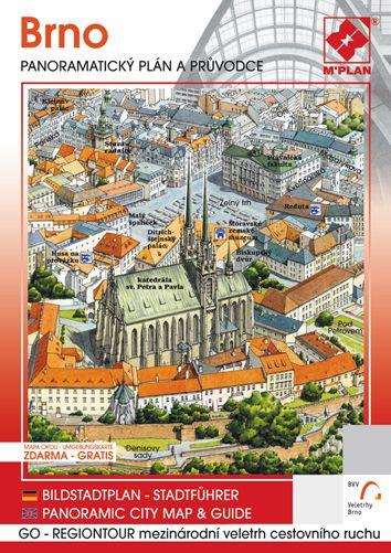 Panoramatický plán a obrazový průvodce města Brno