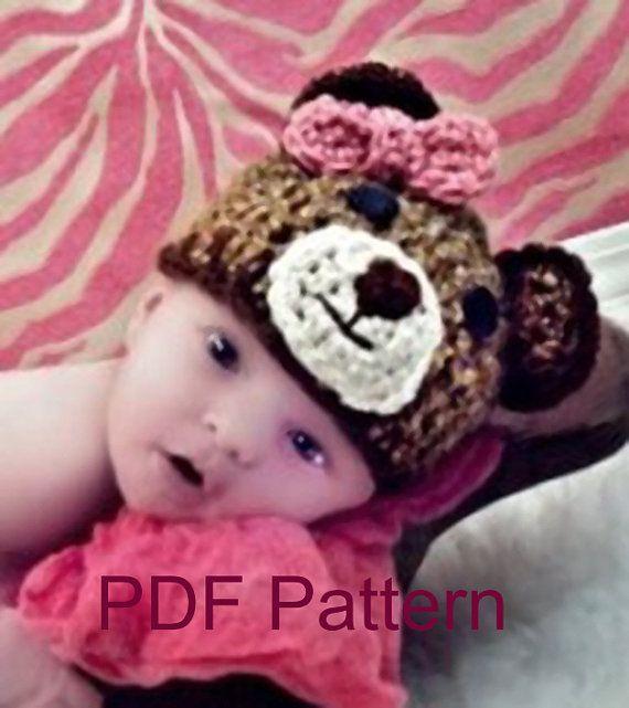 Pdf Crochet Teddy Bear Hat Pattern File By Loreleiscustomcrafts