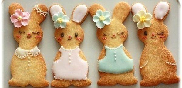 Sugar bunny cookies easter cookies cookie decorating for Tiragraffi gatti ikea