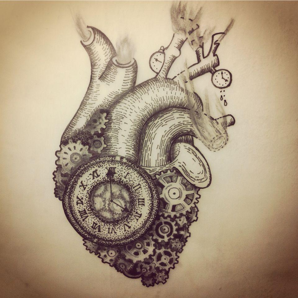 Corazón steampunk #heart #steampunk #tattoo #draw | tattoo ...