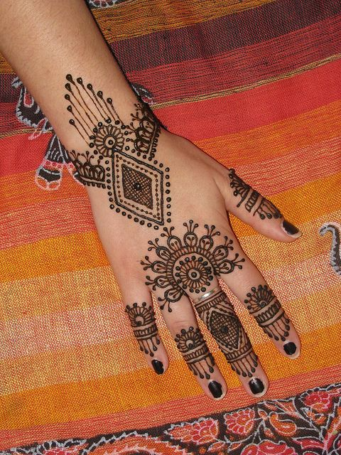 Henna on hand from Asha Savla book Mehandi Party by Volcano Henna, via Flickr