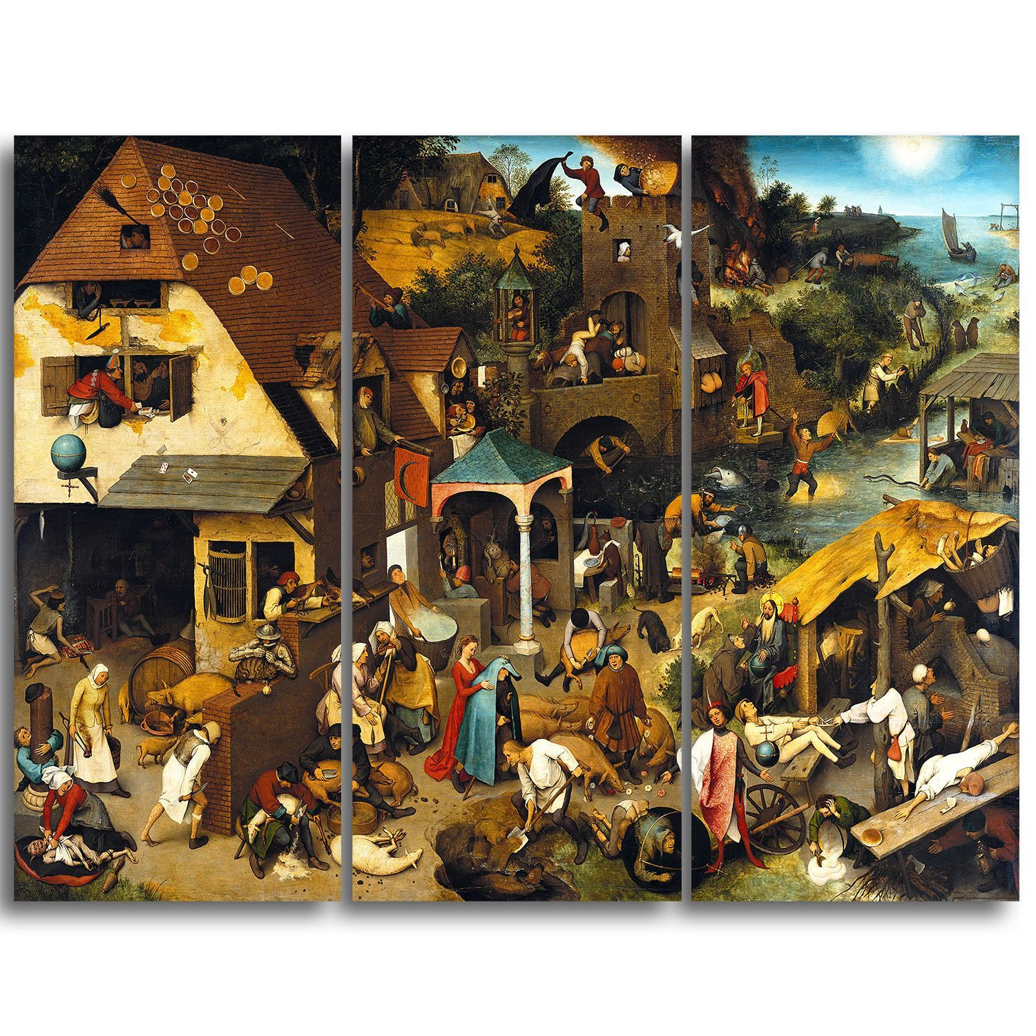Hieronymus Bosch Pieter Bruegel Elder Paintings 1559 Canvas Art Print