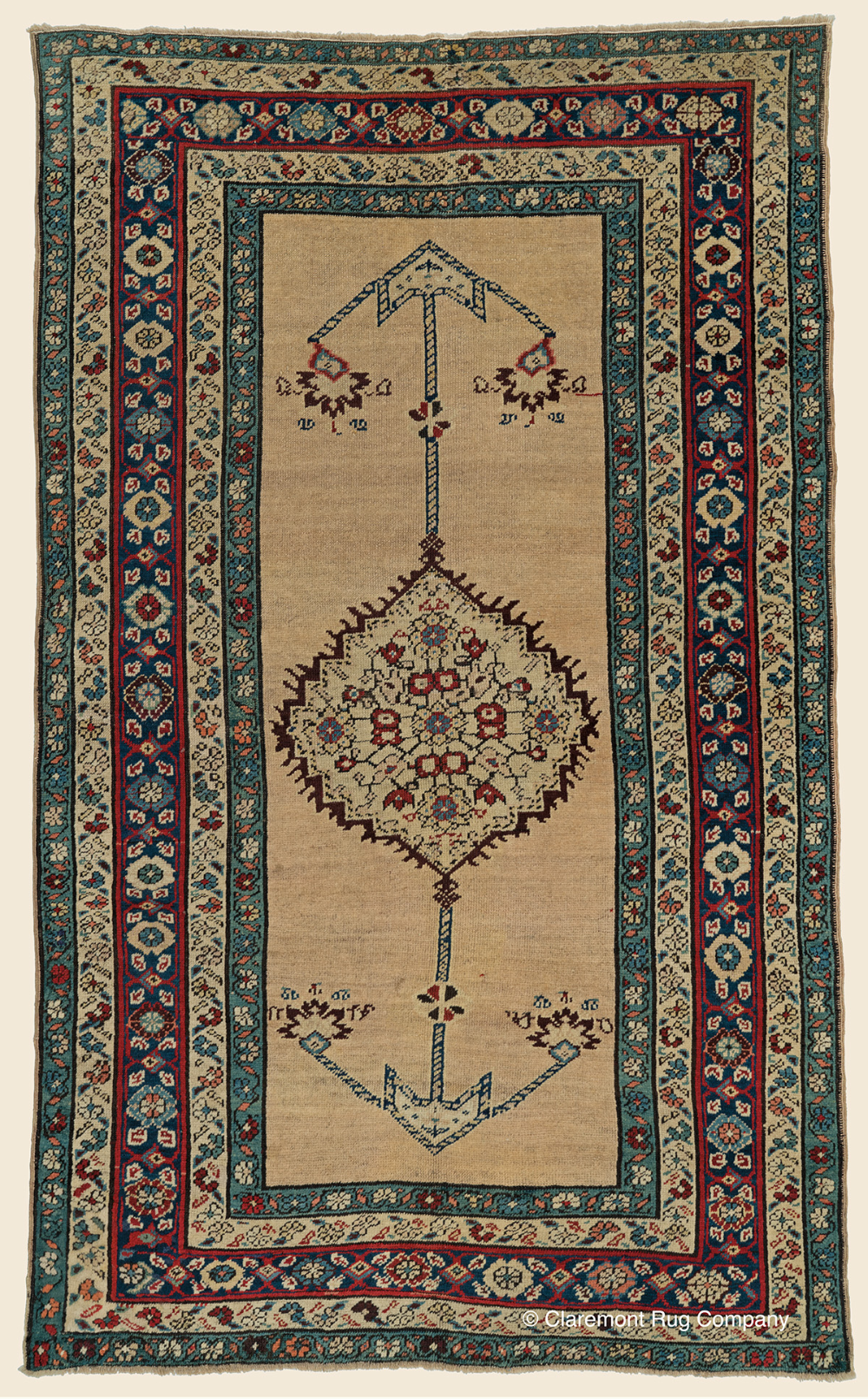 Antique Northwest Persian Serab Camelhair 4ft 1in X 6ft 9in With Elongated Abrash Camelhair Field Antique Rug Claremo In 2020 Claremont Rug Company Rug Company Rugs