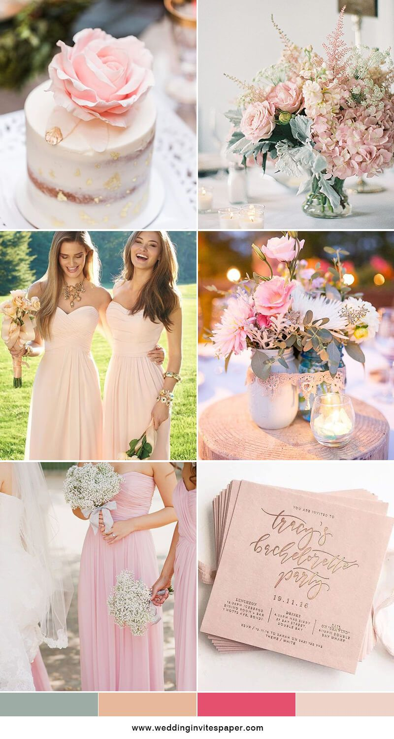 Wedding decorations gold and white december 2018  Prettiest Spring Wedding Color Inspirations for  Trends