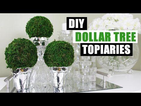 Diy Dollar Tree Topiaries Dollar Store Diy Round Topiary Diy