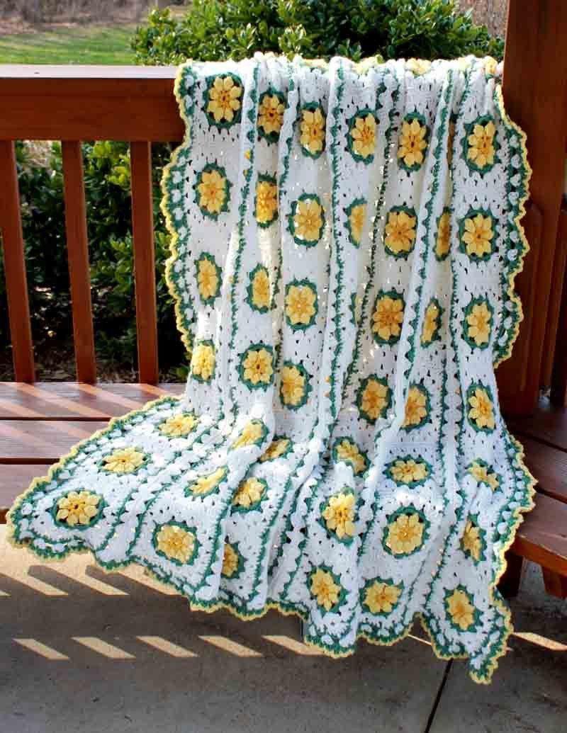 Daisy Afghan Crochet Pattern