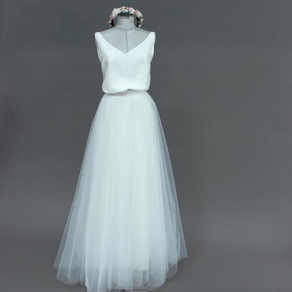 quality design f6ed1 63b44 Tüllrock lang, Ivory, im Boho Stil - Lizy | Hochzeiten ...