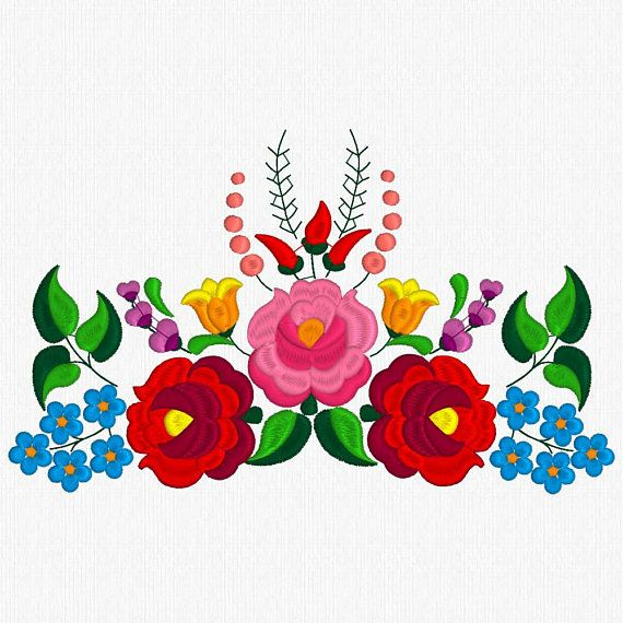 Beautiful Kalocsa Design Embroidery Pattern For Sale 9 Bordado