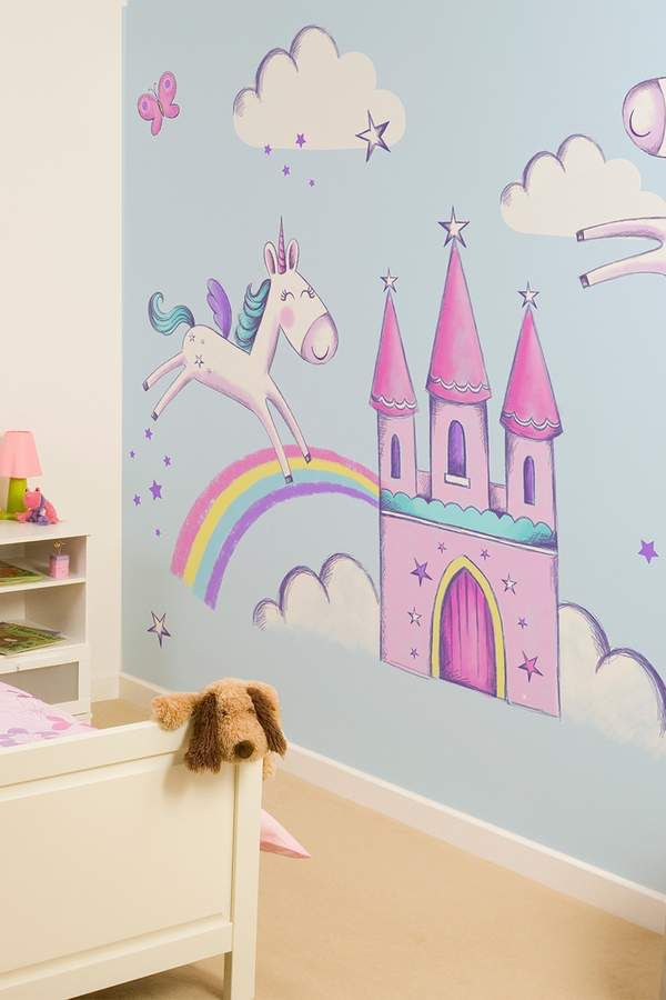 Brewster Home Fashions Unicorns Wall Mural Unicorn Party
