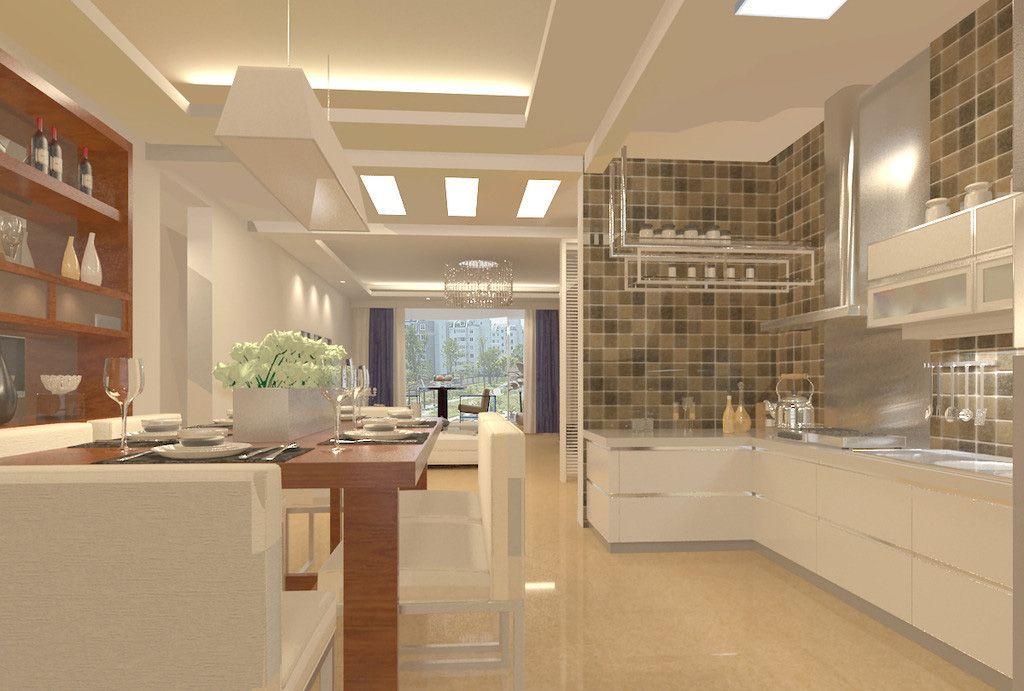 Room · Small Open Plan Kitchen Living Room Design Part 40