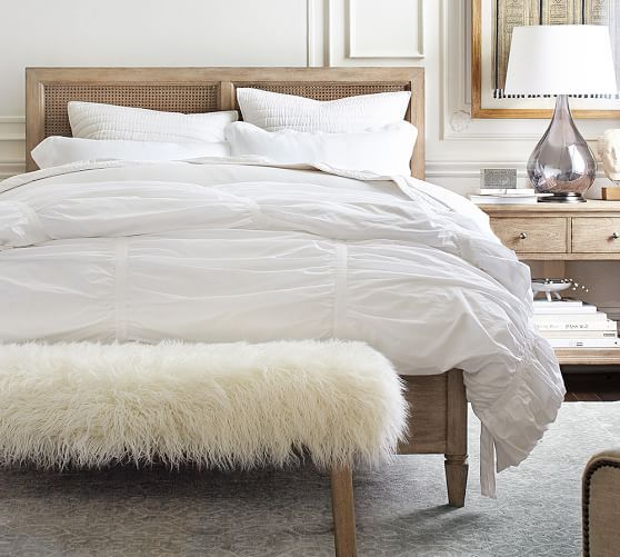 Pottery Barn Wood Furniture Quality: Sausalito White Wash Bed, Cal. King At Pottery Barn