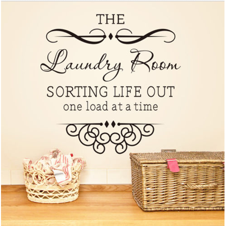 Home Improvement Laundry Room Wall Art Vinyl Wall Decal Quote Sticker Wall Art