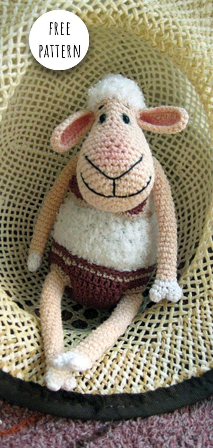 Amigurumi Cute Sheep Free Pattern - Crochet.msa.plus | Crochet ... | 1510x720