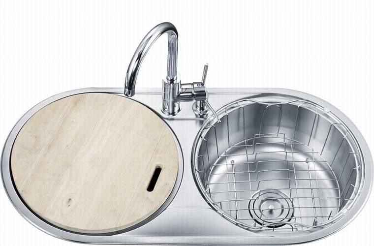 Double Round Bowl Kitchen Sink | Round kitchen sink, Top ...
