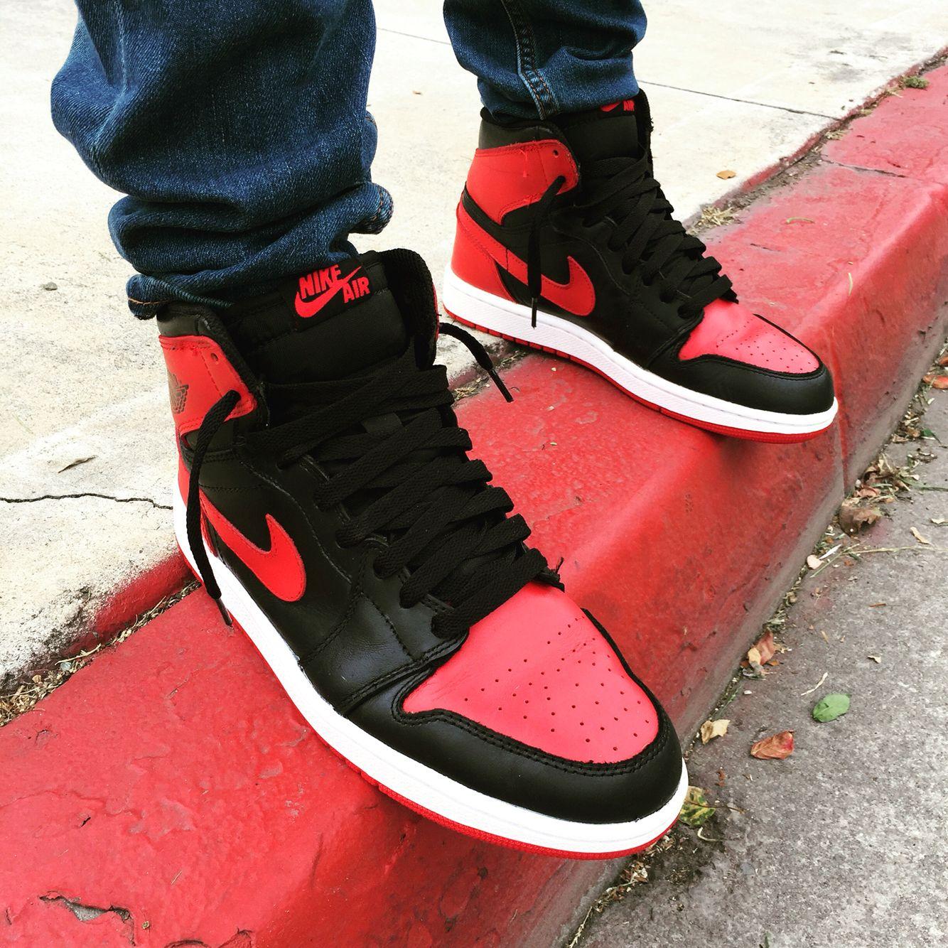 Bred Jordan 1's