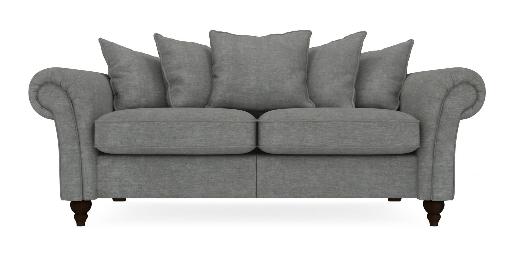 Delightful Buy Gosford Scatter Back Large Sofa (3 Seats) Soft Marl Mid French Grey  LowTurned