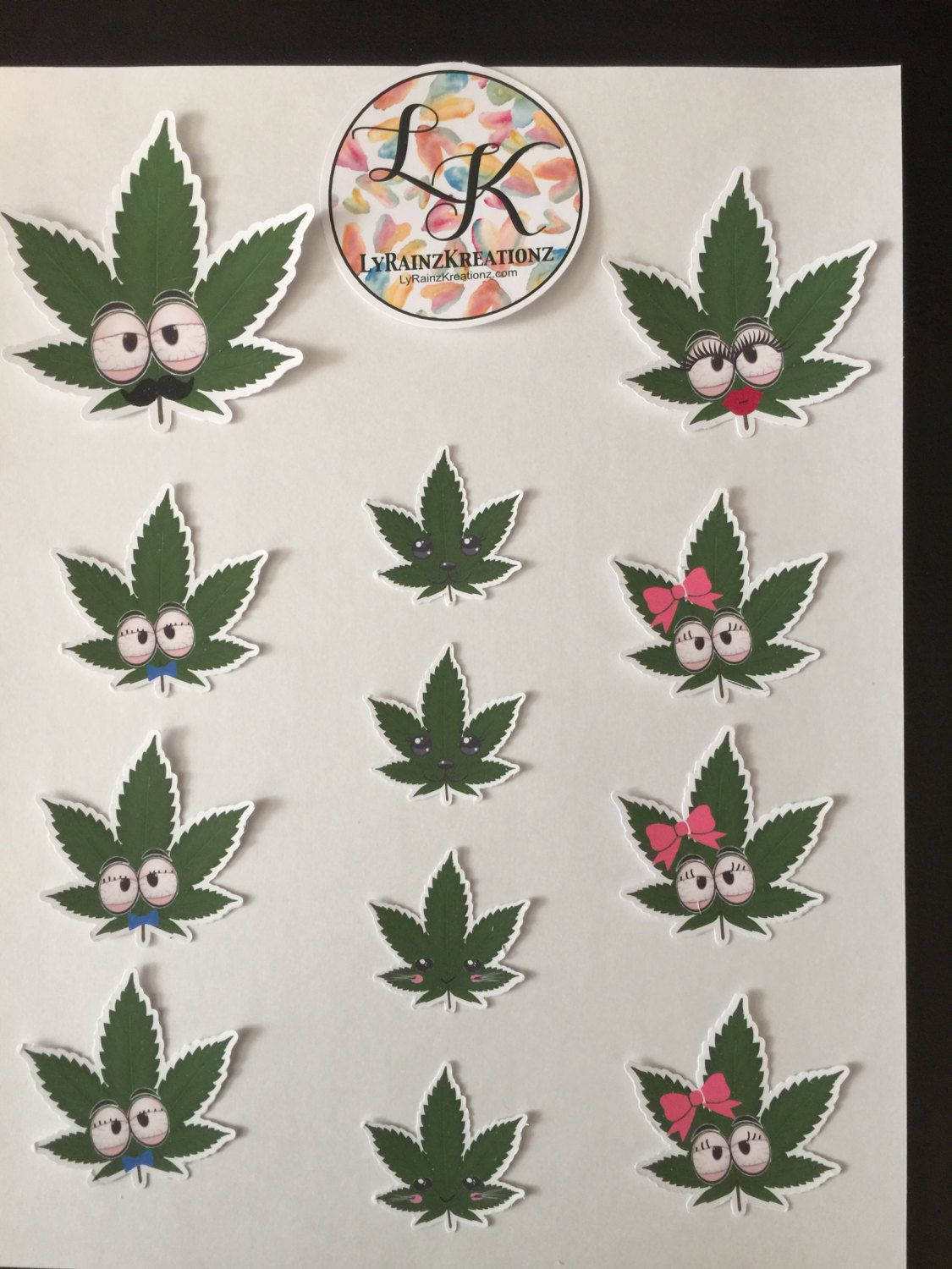 The Weed Family - window/laptop/car decals by LyRainzKreationz on Etsy