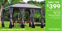 Wilson Fisher 10 X 12 Somerset Gazebo From Big Lots 399 00 Save 100 Gazebo Big Lots The Great Outdoors