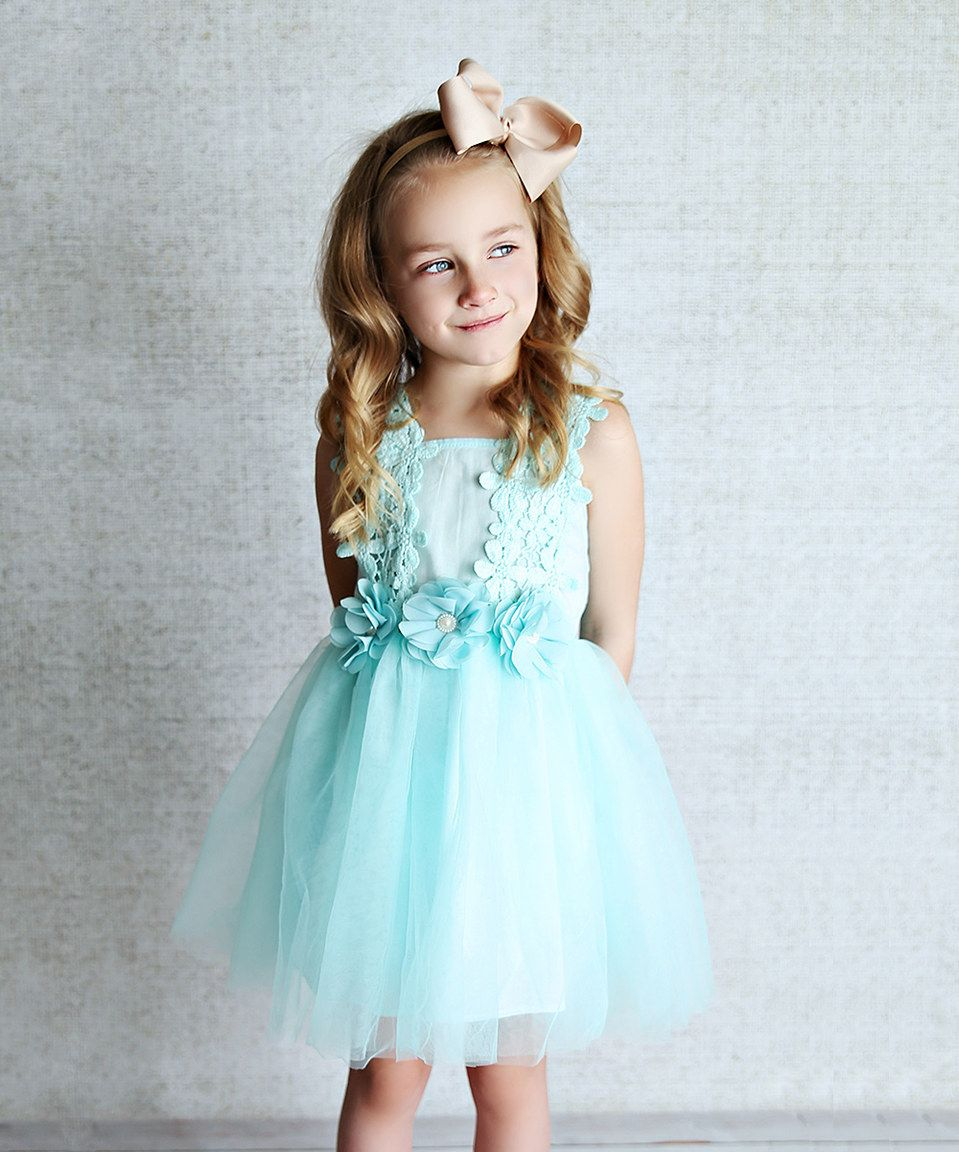 Look at this #zulilyfind! Mint Tulle A-Line Dress - Infant, Toddler ...