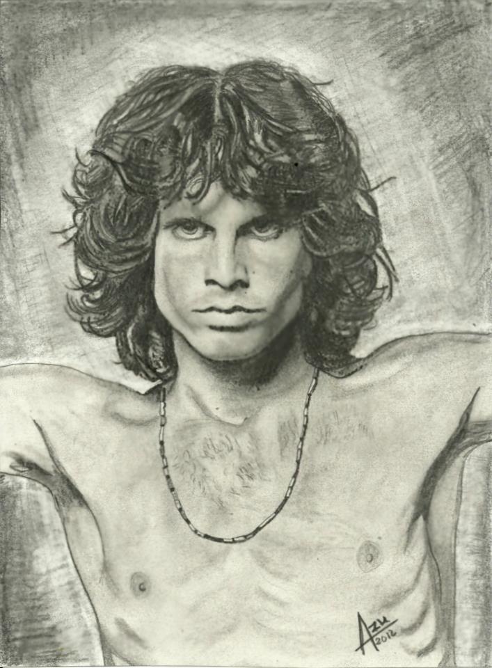 Mi Dibujo De Jim Morrison Horse Drawings Jim Morrison Face Drawing