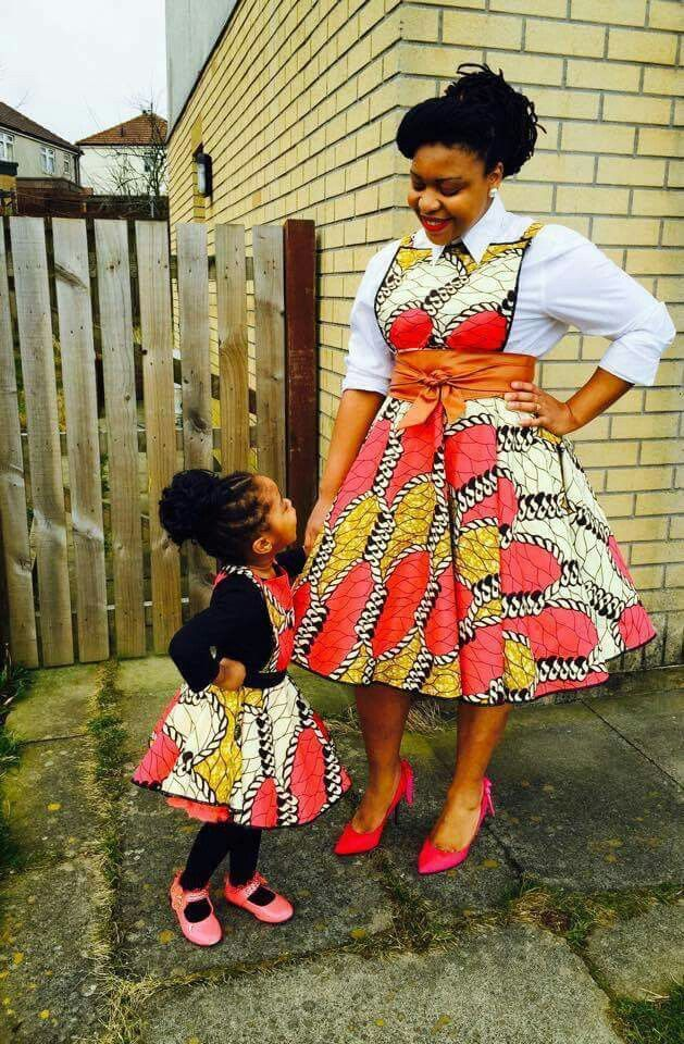 Mom & Daughter African Fashions ~African fashion, Ankara, kitenge, African women dresses, African prints, African men's fashion, Nigerian style, Ghanaian fashion ~DKK