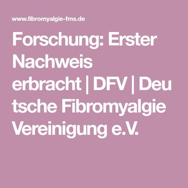 Forschung Erster Nachweis erbracht DFV Deutsche