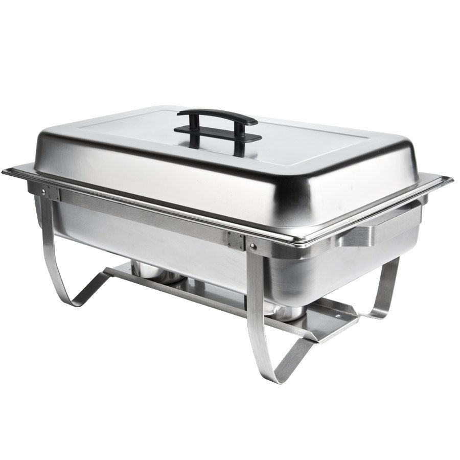 Choice Economy 8 Qt Full Size Stainless Steel Chafer With Folding