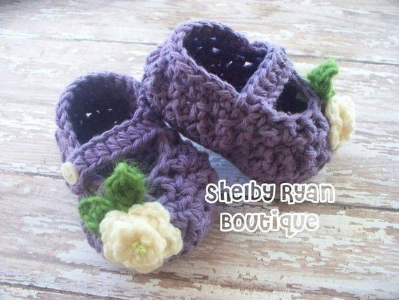Crochet Pattern For Petite Mary Jane Slippers Baby Booties