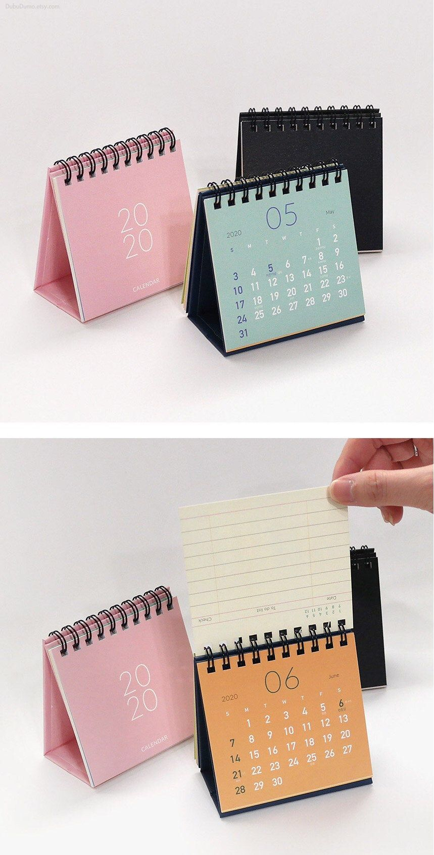 2020 Mini Calendar 4colors Desk Calendar Simple Calendar